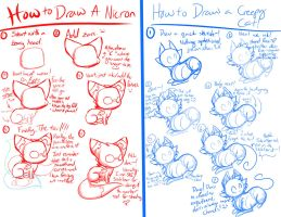 A Feline Drawing Tutorial by FlamesVoices
