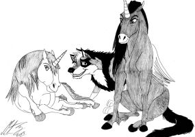 Kitara and the unicorns Silver and Illiam by MortenEng21