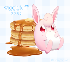 Wigglytuff and Pancakes by Yajuuu