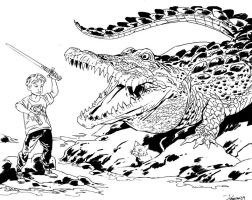 Crocodile Fighter by brentb9702