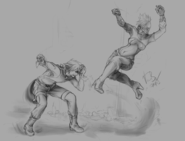 Action Practice Pt.2 by Bobo-Kitty