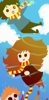 Potter Chibi Bookmark by gogomomo