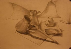 coffee-pots and a cup by Oddel