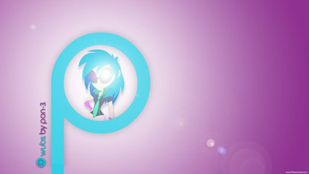 Vinyl Scratch wallpaper (human) by frans97
