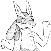 lucario sketch woooo by cartoonboyplz