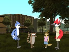 Mordecai, Rigby, Eileen, and Margaret by YRT9401