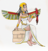 Egyptian Angel by RyouGirl