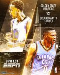 2/6/16 Warriors vs Thunder | Graphic/Poster by ClydeGraffix