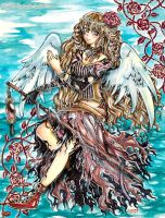Art Gift: Brown-Haired Angel for Nahrain by Laiden-Cerise