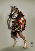 wolf dude by andava