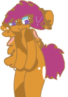 Scoots away awkwardly by AqueHoodie