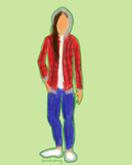 OOTD: Plaid and a Jacket - Squiggly Gif by PandaKong