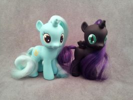 MLP: FiM - Filly Lyra and Nyx - custom ponies by hannaliten