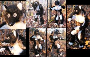 Black Anthro Wolf Plush Toy by Jarahamee
