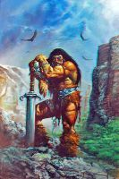 Simon Bisley Conan Anaglyph by Geosammy