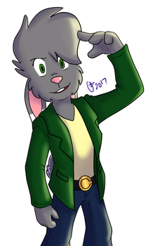 A handsome bunny by OminousMoon