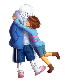Frisk and Sans by AliceYume88