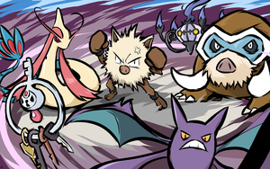 Primeape and Company by ishmam