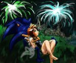 Sonic And Elise - Fireworks by Gemini-Mystica