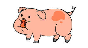 My first attempt at drawing Waddles by EvaWolferina