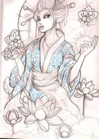 geisha 10 sketch by mojoncio