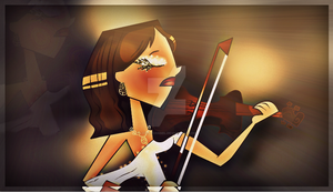 Courtney violinist second version by LovelyChanel