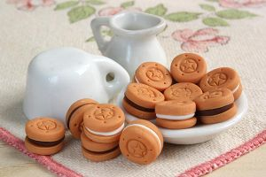 Cookies - Clay Miniature by thinkpastel