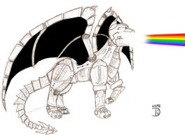Robot Kitty Dragon by The-Land-Shark