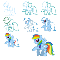 How to draw Rainbow dash by rainbowPudding18