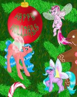 MLP Art : Happy Holidays 2005 by marienoire