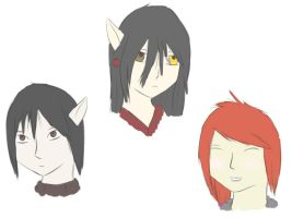 Elven Legend sketches by Squiggy13