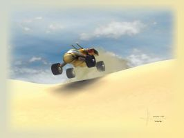 "Dune 9""x12"" print by Mechis"