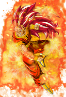 Super Saiyan God 3 Goku by EliteSaiyanWarrior