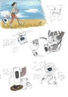 Portal 2 Sketchdump by BarbruBarbarian