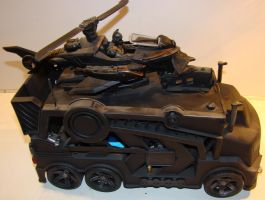 Batmobile Mobile Repair Unit with Batcopter by skphile