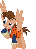 Marty McFly - Pony Vector by LonicHedgehog