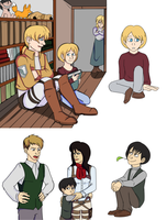 SnK kids AU by Tetris-Fan