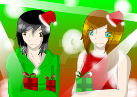 Merry Christmas to Rose and Ranger! by HonTheAwesome