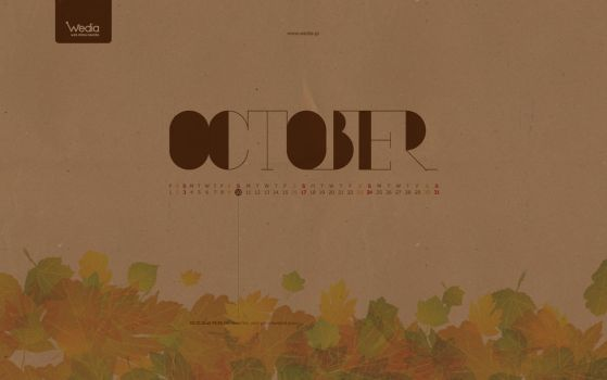 wedia_october wallpaper by B-positive