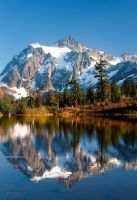 Mt. Shuksan and Picture Lake by sgwizdak