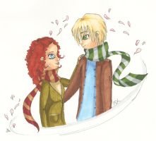 Rose + Scorpius by Llallira