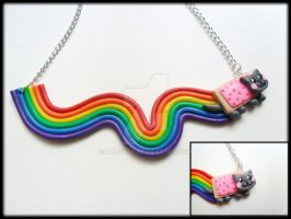 Nyan Cat Necklace by Karoger