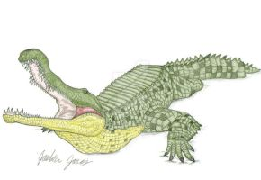 Sarcosuchus Imperator by Art-26
