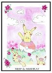 Pikachu Patch Print by Meep-and-Mushrat