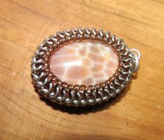 Snakeskin Agate Maille Wrap by SarahTheSlightlyMad