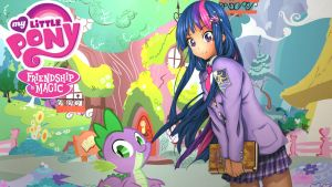 Anime Twilight Sparkle (Alternate Wall paper ver.) by Sazuko