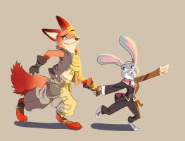 Zootopia X Bravely by Hayashi88