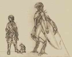 Sketch: Postapocalyptic Characters by Laitiel