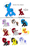 Bantam Pony Adoptables - CLOSED by iPandacakes