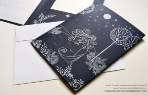 Wedding Card: Luthien and Beren Face B by MentaDesigns